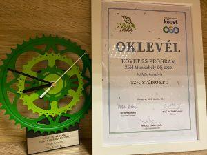 Zöld iroda díj